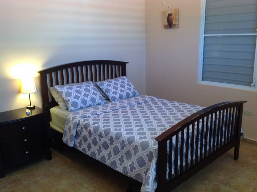 Master bedroom. Queen size bed and private bath.